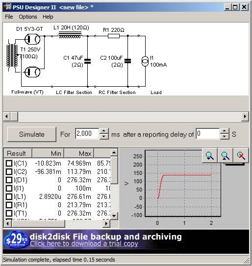 choke input power supply
