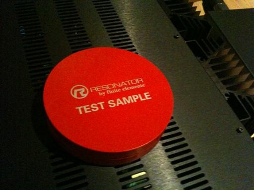 Resonator test sample from Finite Element