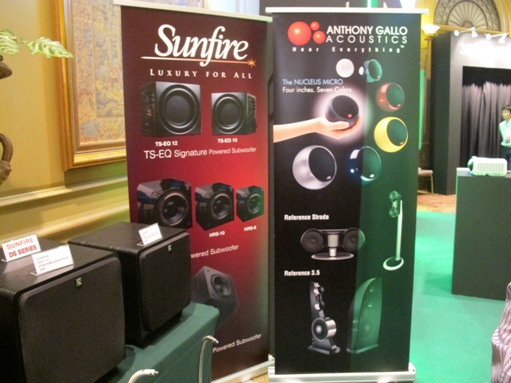 Sunfire Subwoofer and Anthony Gallo Loudspeakers