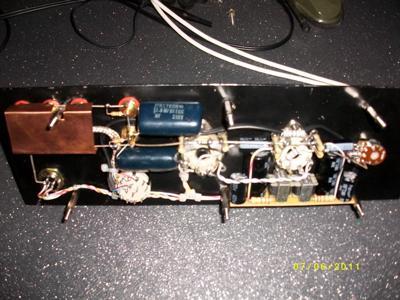 6SN7 pre-amp internal
