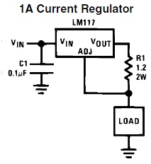 LM117 constant current source