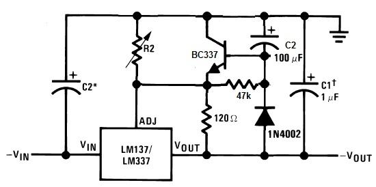 LM337 Soft Start