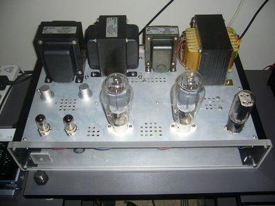 Carmen 300B amplifier top 1