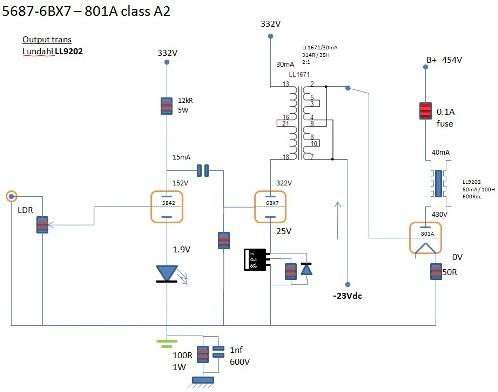 Class A2 801A Tube Amplifier