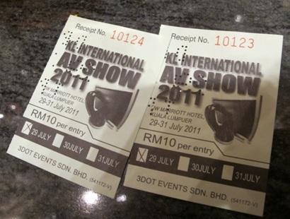 KLIAV 2011 tickets