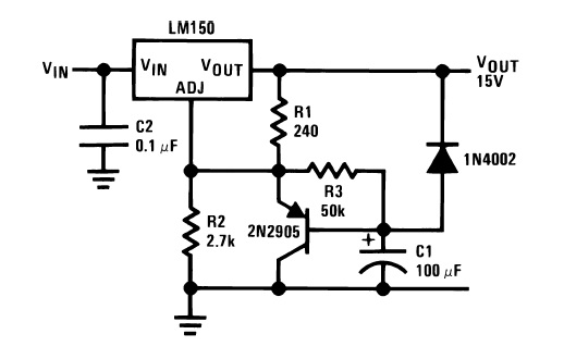 LM317 Soft Start