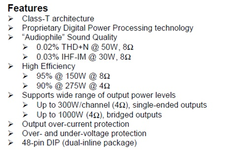 TA3020 Specifications